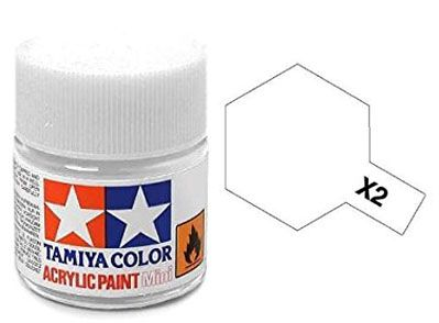 Tinta Acrílica Mini X-2 Branco (10 ml) - Tamiya 81502  - BLIMPS COMÉRCIO ELETRÔNICO