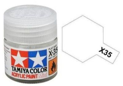 Tinta Acrílica Mini X-35 Verniz transparente semibrilhante (10 ml) - Tamiya 81535  - BLIMPS COMÉRCIO ELETRÔNICO