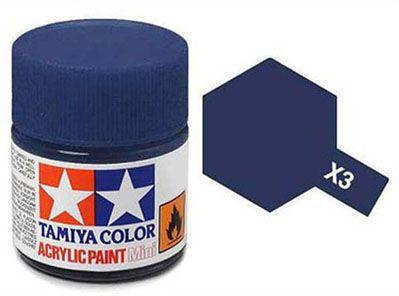 Tinta Acrílica Mini X-3 Azul Royal (10 ml) - Tamiya 81503  - BLIMPS COMÉRCIO ELETRÔNICO