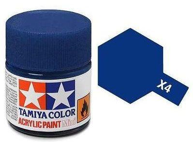 Tinta Acrílica Mini X-4 Azul (10 ml) - Tamiya 81504  - BLIMPS COMÉRCIO ELETRÔNICO
