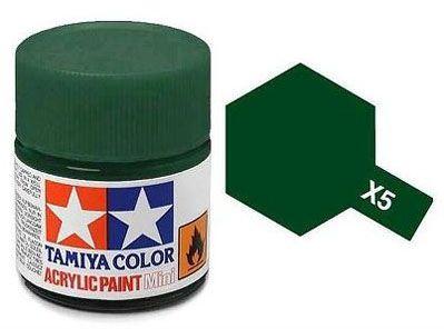 Tinta Acrílica Mini X-5 Verde (10 ml) - Tamiya 81505  - BLIMPS COMÉRCIO ELETRÔNICO