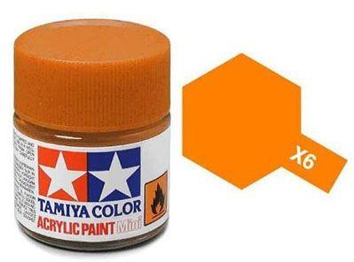 Tinta Acrílica Mini X-6 Laranja (10 ml) - Tamiya 81506  - BLIMPS COMÉRCIO ELETRÔNICO