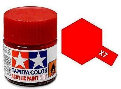 Tinta Acrílica Mini X-7 Vermelho (10 ml) - Tamiya 81507  - BLIMPS COMÉRCIO ELETRÔNICO