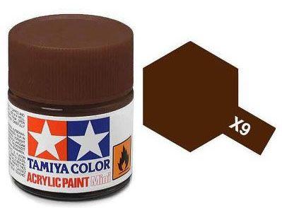 Tinta Acrílica Mini X-9 Marrom (10 ml) - Tamiya 81509  - BLIMPS COMÉRCIO ELETRÔNICO