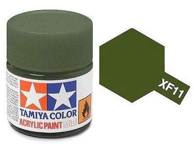 Tinta Acrílica Mini XF-11 Verde  J.N. (10 ml) - Tamiya 81711  - BLIMPS COMÉRCIO ELETRÔNICO