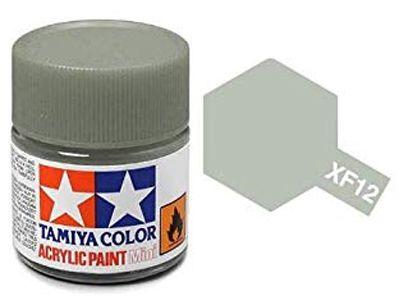Tinta Acrílica Mini XF-12 Cinza J.N. (10 ml) - Tamiya 81712  - BLIMPS COMÉRCIO ELETRÔNICO