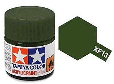 Tinta Acrílica Mini XF-13 Verde J.A. (10 ml) - Tamiya 81713  - BLIMPS COMÉRCIO ELETRÔNICO