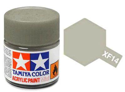 Tinta Acrílica Mini XF-14 Cinza J.A. (10 ml) - Tamiya 81714  - BLIMPS COMÉRCIO ELETRÔNICO
