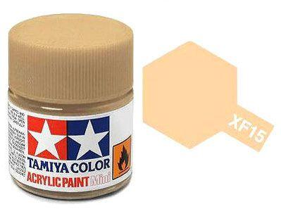 Tinta Acrílica Mini XF-15 Pele clara opaca (10 ml) - Tamiya 81715  - BLIMPS COMÉRCIO ELETRÔNICO