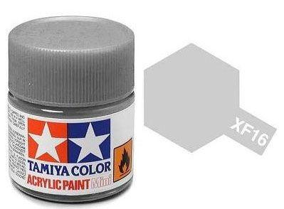 Tinta Acrílica Mini XF-16 Flat Aluminum (10 ml) - Tamiya 81716  - BLIMPS COMÉRCIO ELETRÔNICO