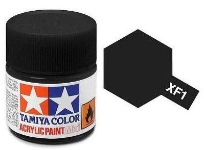 Tinta Acrílica Mini XF-1 Preto Fosco (10 ml) - Tamiya 81701  - BLIMPS COMÉRCIO ELETRÔNICO
