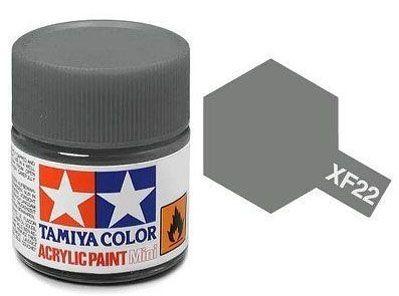 Tinta Acrílica Mini XF-22 RLM Cinza (10 ml) - Tamiya 81722  - BLIMPS COMÉRCIO ELETRÔNICO