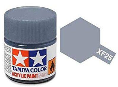 Tinta Acrílica Mini XF-25 Cinza Mar Claro (10 ml) - Tamiya 81725  - BLIMPS COMÉRCIO ELETRÔNICO