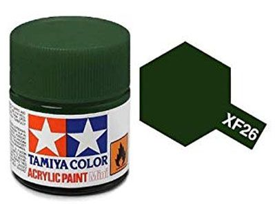 Tinta Acrílica Mini XF-26 Verde escuro (10 ml) - Tamiya 81726  - BLIMPS COMÉRCIO ELETRÔNICO