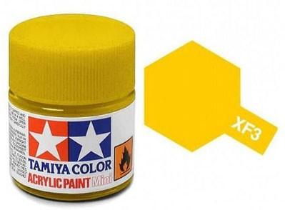 Tinta Acrílica Mini XF-3 Amarelo Fosco (10 ml) - Tamiya 81703  - BLIMPS COMÉRCIO ELETRÔNICO