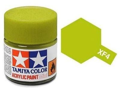 Tinta Acrílica Mini XF-4 Amarelo Verde (10 ml) - Tamiya 81704  - BLIMPS COMÉRCIO ELETRÔNICO