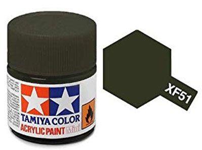 Tinta Acrílica Mini XF-51 Caqui fosco (10 ml) - Tamiya 81751  - BLIMPS COMÉRCIO ELETRÔNICO