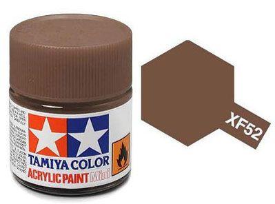 Tinta Acrílica Mini XF-52 Terra fosco (10 ml) - Tamiya 81752  - BLIMPS COMÉRCIO ELETRÔNICO