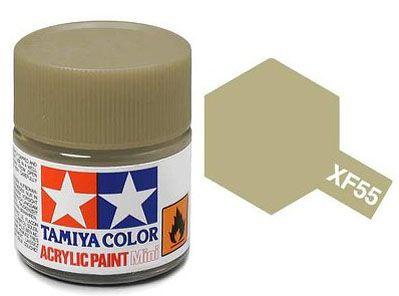 Tinta Acrílica Mini XF-55 Deck Tan fosco (10 ml) - Tamiya 81755  - BLIMPS COMÉRCIO ELETRÔNICO