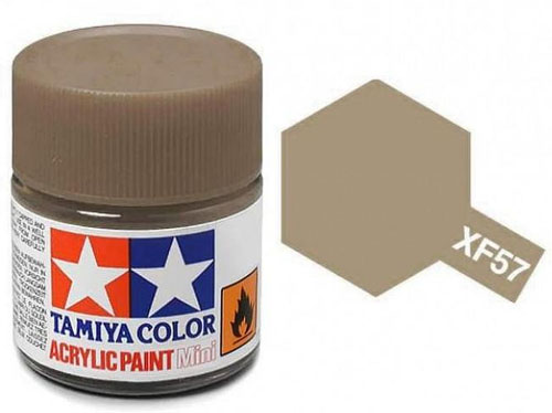 Tinta Acrílica Mini XF-57 Buff/Castanho (10 ml) - Tamiya 81757  - BLIMPS COMÉRCIO ELETRÔNICO