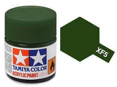 Tinta Acrílica Mini XF-5 Verde Fosco (10 ml) - Tamiya 81705  - BLIMPS COMÉRCIO ELETRÔNICO