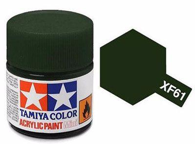 Tinta Acrílica Mini XF-61 Verde escuro (10 ml) - Tamiya 81761  - BLIMPS COMÉRCIO ELETRÔNICO