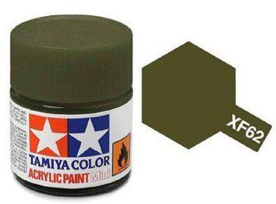 Tinta Acrílica Mini XF-62 Verde Oliva opaco (10 ml) - Tamiya 81762  - BLIMPS COMÉRCIO ELETRÔNICO