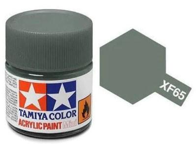 Tinta Acrílica Mini XF-65 Cinza Campo (10 ml) - Tamiya 81765  - BLIMPS COMÉRCIO ELETRÔNICO