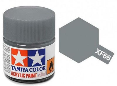 Tinta Acrílica Mini XF-66 Cinza Claro (10 ml) - Tamiya 81766  - BLIMPS COMÉRCIO ELETRÔNICO