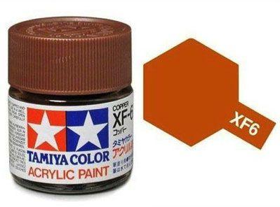 Tinta Acrílica Mini XF-6 Cobre (10 ml) - Tamiya 81706  - BLIMPS COMÉRCIO ELETRÔNICO