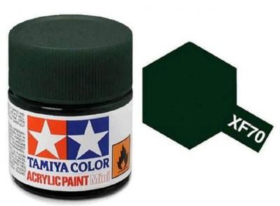 Tinta Acrílica Mini XF-70 Verde Escuro 2 (IJN) (10 ml) - Tamiya 81770  - BLIMPS COMÉRCIO ELETRÔNICO