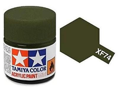 Tinta Acrílica Mini XF-74 Verde Oliva (10 ml) - Tamiya 81774  - BLIMPS COMÉRCIO ELETRÔNICO