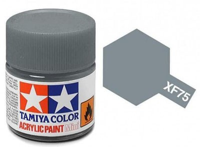 Tinta Acrílica Mini XF-75 Cinza IJN (10 ml) - Tamiya 81775  - BLIMPS COMÉRCIO ELETRÔNICO