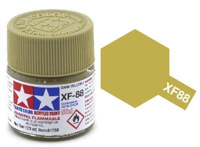 Tinta Acrílica Mini XF-88 Amarelo Escuro 2 (10 ml) - Tamiya 81788  - BLIMPS COMÉRCIO ELETRÔNICO