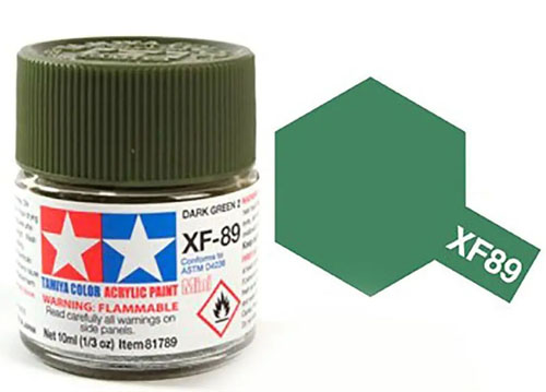 Tinta Acrílica Mini XF-89 Verde Escuro 2 (10 ml) - Tamiya 81789  - BLIMPS COMÉRCIO ELETRÔNICO