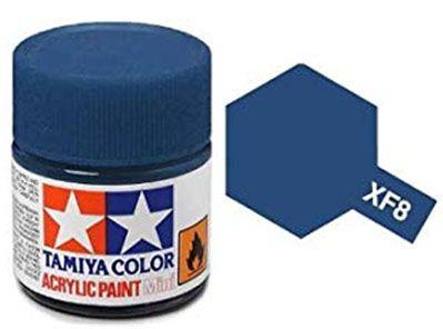 Tinta Acrílica Mini XF-8 Azul (10 ml) - Tamiya 81708  - BLIMPS COMÉRCIO ELETRÔNICO