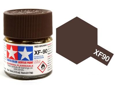 Tinta Acrílica Mini XF-90 Marrom Avermelhado 2 (10 ml) - Tamiya 81790  - BLIMPS COMÉRCIO ELETRÔNICO