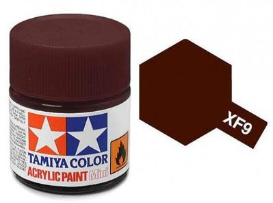 Tinta Acrílica Mini XF-9 Vermelho Escuro (10 ml) - Tamiya 81709  - BLIMPS COMÉRCIO ELETRÔNICO