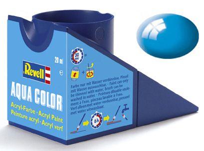Tinta Acrílica Revell Aqua Color Azul Claro Brilhante - Revell 36150  - BLIMPS COMÉRCIO ELETRÔNICO