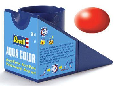 Tinta Acrílica Revell Aqua Color Vermelho Luminoso Sedoso - Revell 36332  - BLIMPS COMÉRCIO ELETRÔNICO