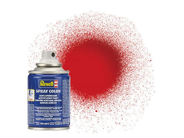 Tinta Revell Spray Color Vermelho Fogo Brilhante - Revell 34131  - BLIMPS COMÉRCIO ELETRÔNICO