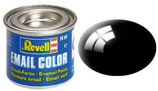 Tinta Sintética Revell Email Color Preto Brilhante - Revell 32107  - BLIMPS COMÉRCIO ELETRÔNICO