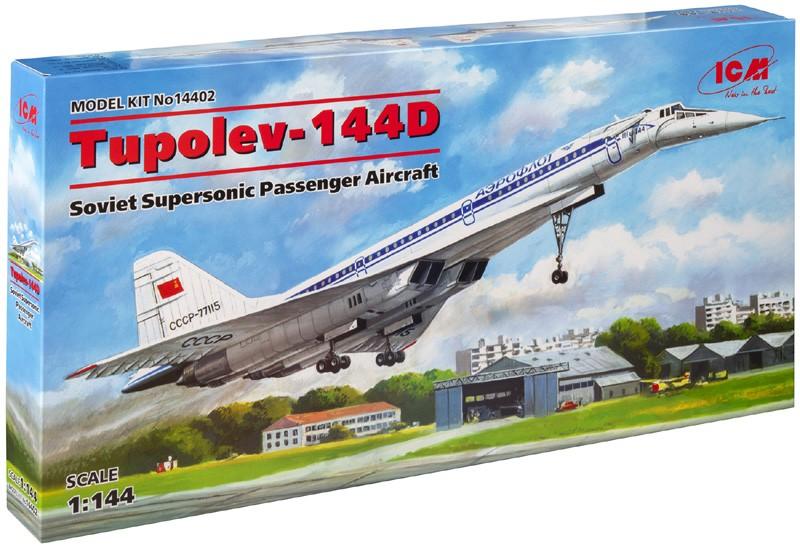Tupolev Tu-144D - 1/144 - ICM 14402  - BLIMPS COMÉRCIO ELETRÔNICO