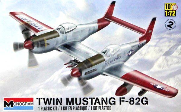 Twin Mustang F-82G - 1/72 - Monogram 85-5257  - BLIMPS COMÉRCIO ELETRÔNICO