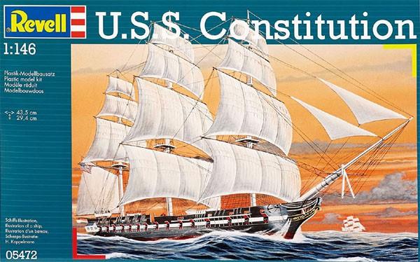 U.S.S. Constitution - 1/146 - Revell 05472  - BLIMPS COMÉRCIO ELETRÔNICO