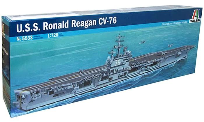 U.S.S. Ronald Reagan - 1/720 - Italeri 5533  - BLIMPS COMÉRCIO ELETRÔNICO