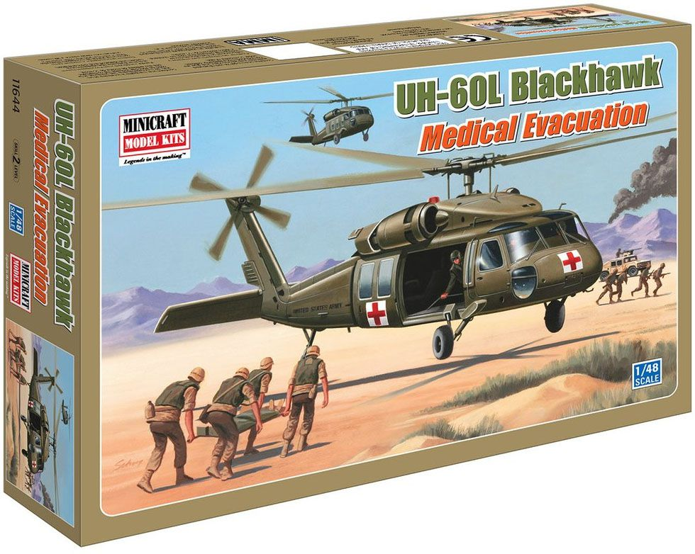 UH-60L Blackhawk Medical Evacuation - 1/48 - Minicraft 14644  - BLIMPS COMÉRCIO ELETRÔNICO
