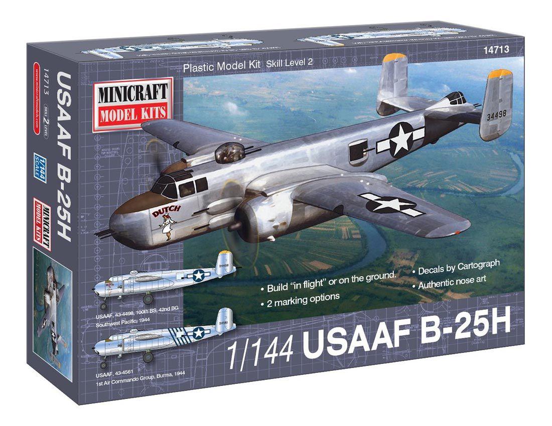 USAF B-25H - 1/144 - Minicraft 14713  - BLIMPS COMÉRCIO ELETRÔNICO