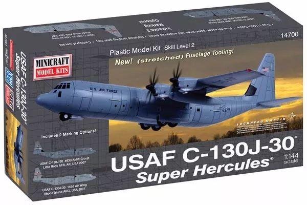 USAF C-130J-30 Super Hercules - 1/144 - Minicraft 14700  - BLIMPS COMÉRCIO ELETRÔNICO