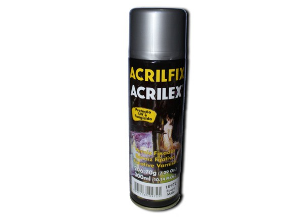 Verniz Spray Fosco Acrilfix (300 ml) - Acrilex 10972  - BLIMPS COMÉRCIO ELETRÔNICO